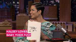 Halsey drawing Baby Yoda will melt your heart [Video]