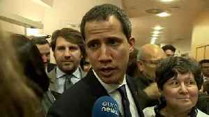 Juan Guaidó: Venezuela's opposition leader in Brussels to revive support for tougher sanctions [Video]