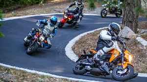 2019 Superbikes Versus Honda Grom, Honda Monkey, Kawasaki Z125 Pro, and Husqvarna 701 Supermoto [Video]