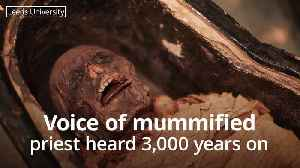 Voice of mummified egyptian priest heard