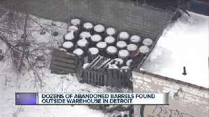 Fire marshal investigating unidentified barrels found behind building in northeast Detroit [Video]