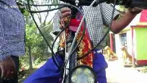 14-year-old schoolboy in east India builds petrol-powered bicycle after law bans under-18s from driving motorcycles [Video]