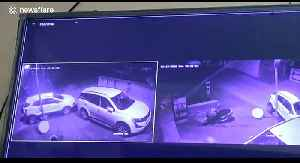 CCTV footage captures driver being thrown through window after car flips over TWICE in northern India [Video]