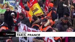 Last-ditch protests and strikes in France over pension reforms [Video]