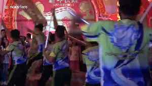 Liong, The Dragon Dance, is performed during the Chinese New Year in the See Hin KIiong Temple, the most beautiful temple in Wes [Video]