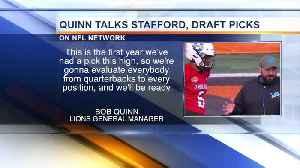 Bob Quinn talks Lions No. 3 pick, Stafford future [Video]