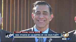 Issa stands by ad ripped by San Diego GOP [Video]