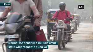 Normal life continues in Pune despite state-wide 'bandh' against CAA, NRC [Video]