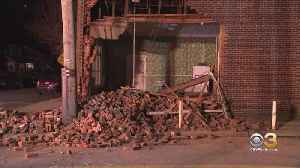 SUV Crashes Into Collingdale Apartment Building Leaving Pile Of Debris Behind [Video]