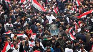 Thousands rally in Baghdad against US military presence