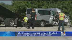 Holy Cross Coach Wanted To Know If He Had A Green Arrow Just After Deadly Crash [Video]