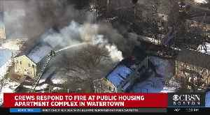1 Person Hurt After Flames Tear Through Watertown Apartment Building [Video]