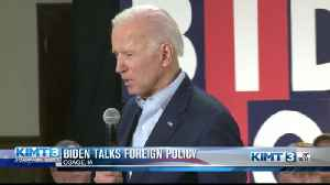 Biden talks foreign policy [Video]