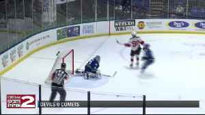 Comets give away lead, fall to Devils for second straight loss [Video]