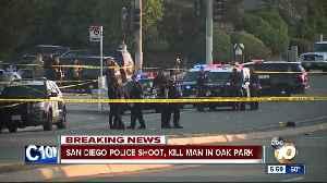 San Diego Police shoot, kill suspect in Oak Park [Video]