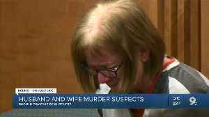 News video: Husband and wife murder suspects; Attorneys debate cameras in court