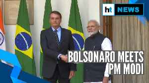 Watch: Jair Bolsonaro meets PM Modi, EAM Jaishankar in New Delhi [Video]