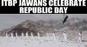 ITBP Jawans celebrate 71st Republic Day at 17000 feet & minus 20 degrees at Ladakh |Oneindia News [Video]