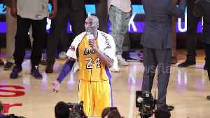 News video: FILE: Global superstar Kobe Bryant dead at 41. Watch his touching farewell to Los Angeles fans in 2016