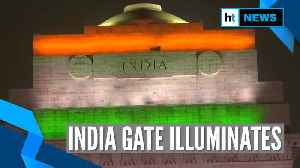 Watch: India Gate illuminates in tricolour on Republic Day eve [Video]