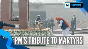 71st Republic Day: PM Modi pays homage to Indian martyrs at National War Memorial [Video]