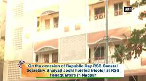 Republic Day 2020 RSS General Secretary Bhaiyaji Joshi unfurls tricolor [Video]