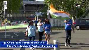 Ecstatic fans throng at Eden Park in Auckland ahead of India New Zealand match [Video]