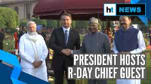 'At Home' Reception: PM Modi, Jair Bolsonaro hosted by President Kovind [Video]