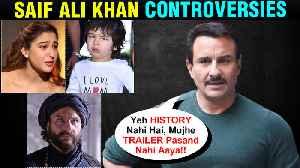 Saif Ali Khan Tanhaji Controversy, Sara Ali Khan's Love Aaj Kal 2, Taimur | All Controversies [Video]