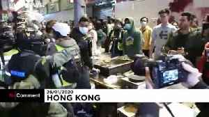 Hong Kong: Clashes on anniversary of snack stand dispute [Video]