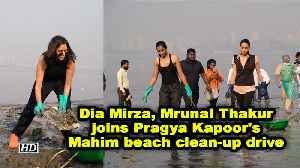Dia Mirza, Mrunal Thakur joins Pragya Kapoor's Mahim beach clean-up drive [Video]