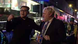 Hilariously foul-mouthed Boris Johnson and Kim Jong-un impersonators delight Hong Kong [Video]