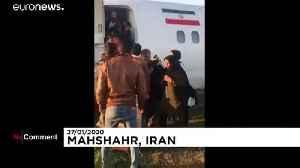 Plane overshoots runway, skids into street in Iran [Video]