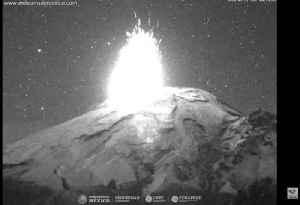 Popocatepetl Volcano Spews Lava And Huge Ash Column [Video]
