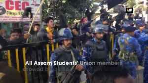 AASU members show black flag to Assam Minister [Video]