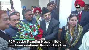 News video: This award is for people of JK PDP leader Muzaffar Hussain Baig on being conferred with Padma Bhushan