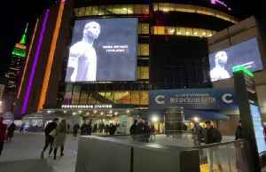 New York's Madison Square Garden lit up in tribute to Kobe Bryant