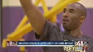 Local arena bathed in purple and gold light Sunday night after death of Kobe Bryant [Video]