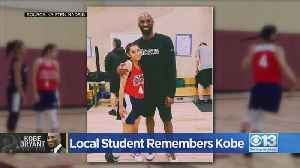 Roseville Teen Reflects On Connection With Kobe Bryant Following His Death [Video]