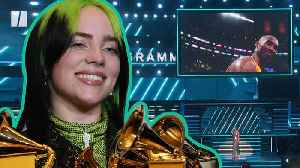 Grammys 2020:  Billie Eilish Cleans Up And Kobe Bryant Remembered [Video]