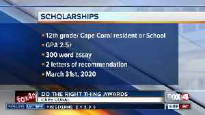 Cape Coral Police accepting 'Do The Right Thing' scholarship applications [Video]