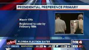 Florida's presidential primary set for March 17th [Video]