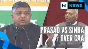 BJP's 'tukde' charge at Shaheen Bagh vs Yashwant Sinha's 'drama' jibe on CAA [Video]
