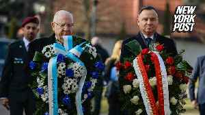 News video: Holocaust survivors walk through gates on Auschwitz liberation anniversary