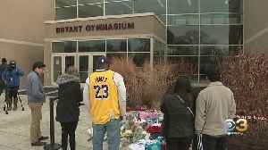 Memorial For NBA Legend Kobe Bryant Continues To Grow Outside Lower Merion High School [Video]