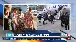 Super Bowl teams arrive in Miami [Video]