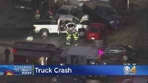 Truck Crashes Into 2 Parked Cars, Bursts Into Flames [Video]
