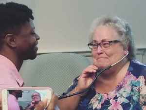 Guy Meets Donor's Mother Four Years After Heart Transplant [Video]