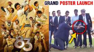 Ranveer Singh Along With Kapil Dev GRAND Poster Launch In Chennai | 83 [Video]
