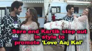 Sara Ali Khan and Kartik Aaryan step out in style to promote 'Love Aaj Kal' [Video]